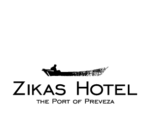 Zikas Hotel. Λογότυπο, εταιρική ταυτότητα και ιστοσελίδα